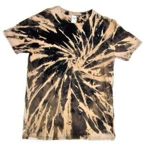 Black Bleach Tie Dye Shirt