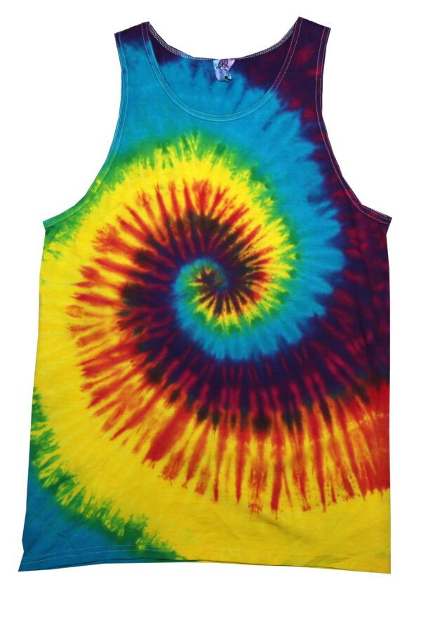 Unisex Tank Top-Reactive Rainbow - Tie Dye Shirt Shack