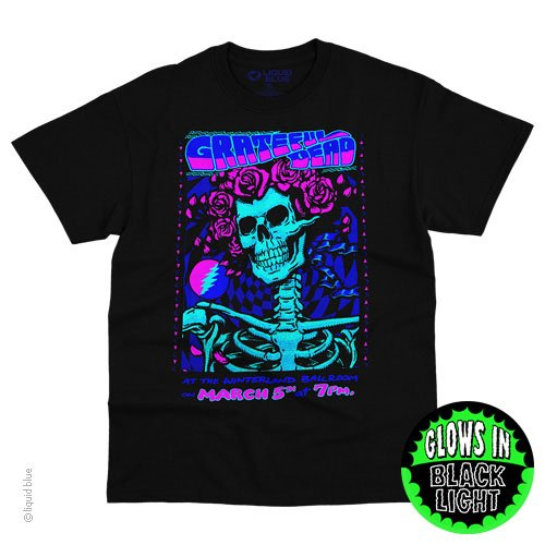 Grateful Dead Bertha Black Light Shirt - Tie Dye Shirt Shack