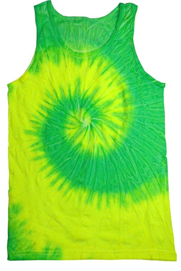 Unisex Tank Top-Florescent Yellow & Lime - Tie Dye Shirt Shack
