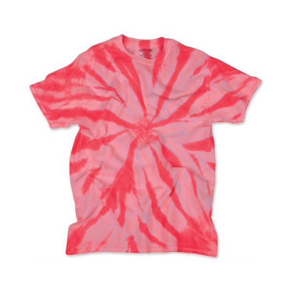 TD Neon Spiral Coral - Tie Dye Shirt Shack