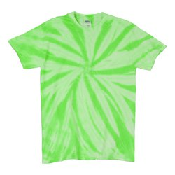 TD Neon Spiral Green - Tie Dye Shirt Shack