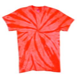 TD Neon Spiral Orange - Tie Dye Shirt Shack
