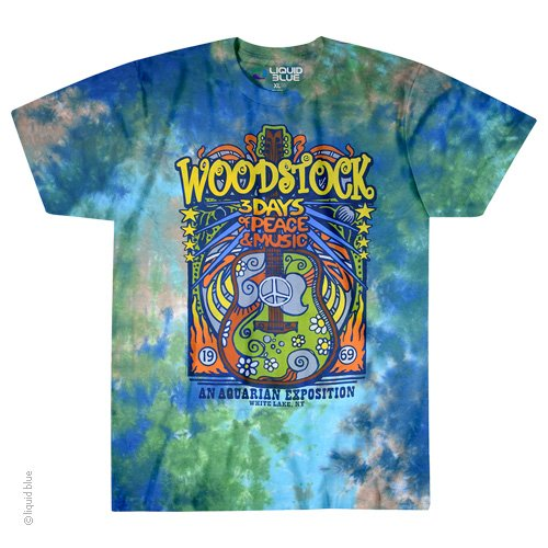 Woodstock Music Festival Tie-Dye T-Shirt - Tie Dye Shirt Shack