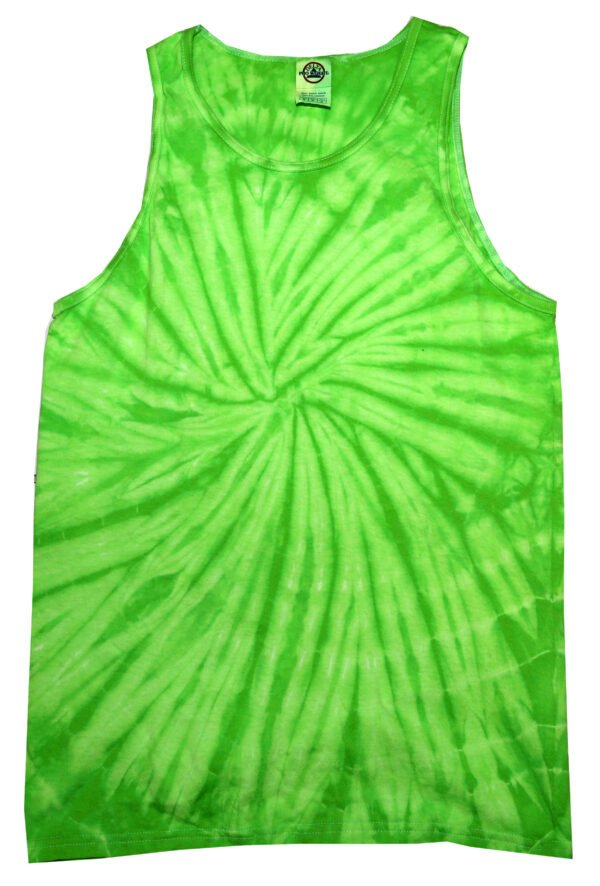 Unisex Tank Top-Neon Spider Lime - Tie Dye Shirt Shack